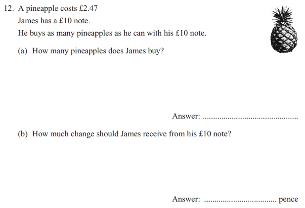 Money and Word Problems