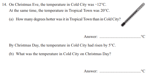 Temperature and word problems