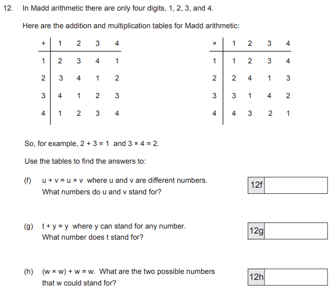 Tables, Logical Problems and Substitution