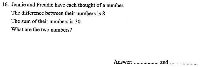 Simultaneous Equations, Algebra