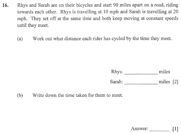 Speed Distance Time, Word Problems, Numbers