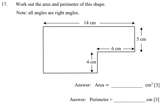 Compound shapes and Area and Perimeter