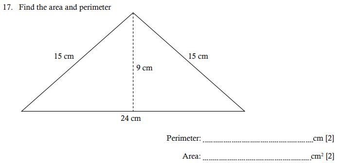 Area and Perimeter and Triangle