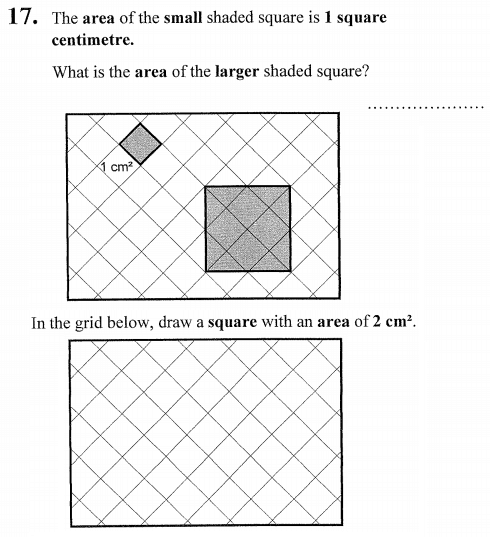 Scale drawing, square and area