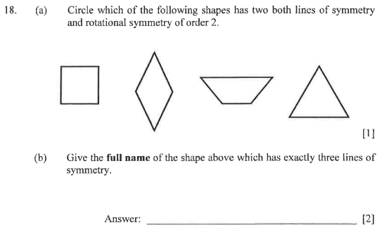 Line Symmetry, Rotational Symmetry and 2D shapes
