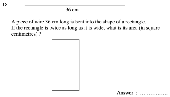 Word Problems, rectangle, Area and Perimeter and Algebra Dependent Problems