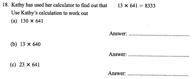 Logical Problems, Addition, Multiplication, Numbers