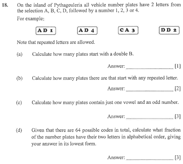 Logical Problems, Permutation and Combinations, Fractions, Numbers