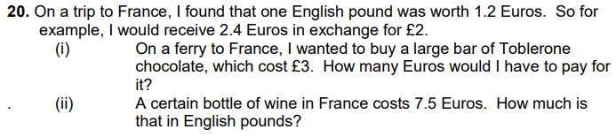 Currency Conversions, Money and Word Problems