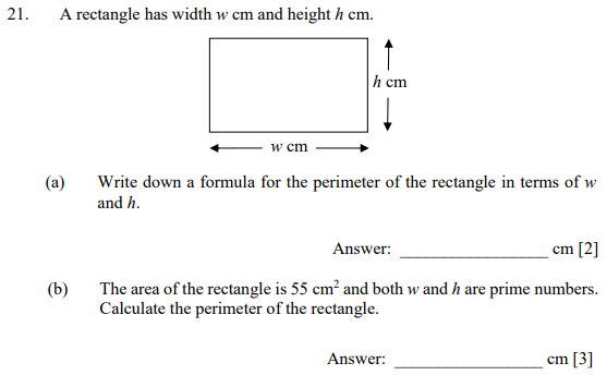 Rectangle, Area and Perimeter and Prime numbers