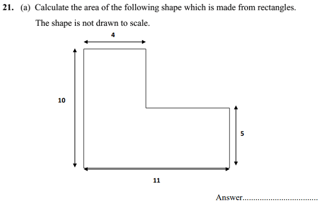 Compound Shapes, Rectangle and Area and Perimeter