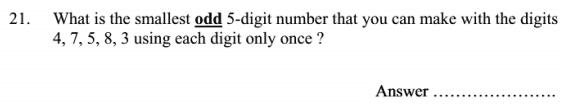 Place value, Logical Problems, Odd number