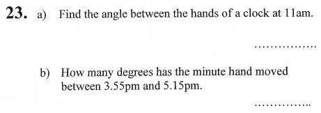 Time and Angles
