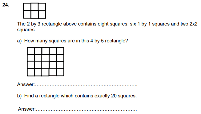 Geometry, squares, Numbers, Counting