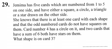 Logical Questions and Multi Level Word Problems