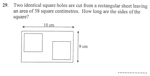 Area and Perimeter, square and rectangle