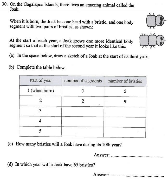 Linear Equations, Algebra, Word Problems, Patterns & Sequences