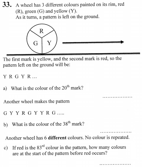 Patterns & Sequences and Word Problems