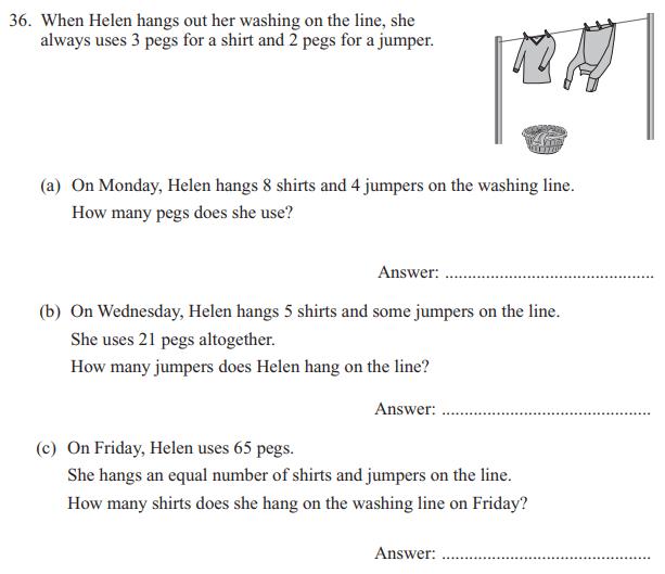 Word Problems and algebra