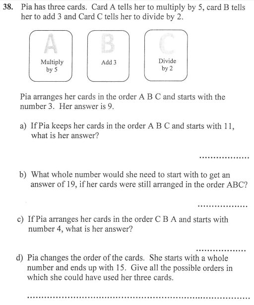 algebra and Logical Problems