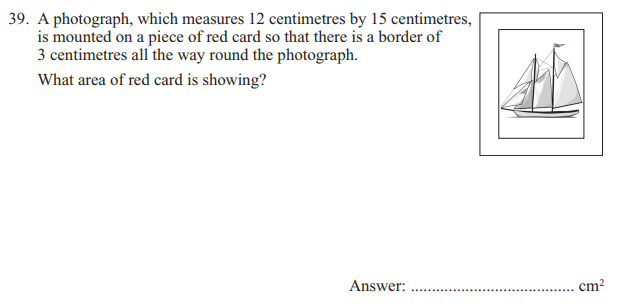Area, Rectangle and Word Problems