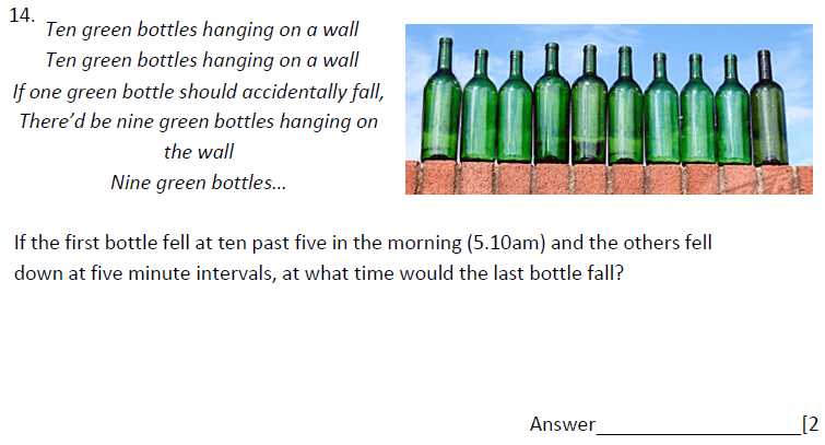 Word Problems and Time