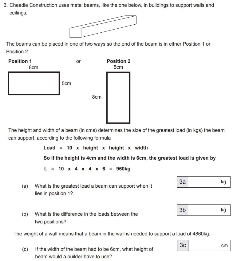 Substitution, Algebra, Square Numbers and Word Problems