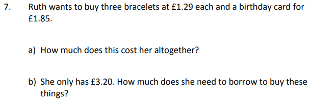 Word Problems and Money