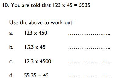 Numbers, Multiplication, Division, decimal manipulation