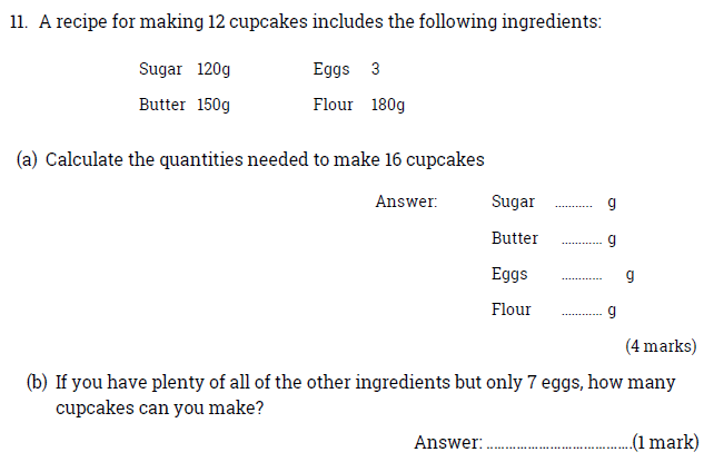 Recipe and Proportions and Word Problems