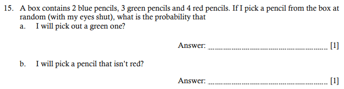 Probability Questions Collected From 11+ papers