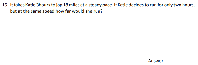 Numbers, Word problems, Speed Distance Time