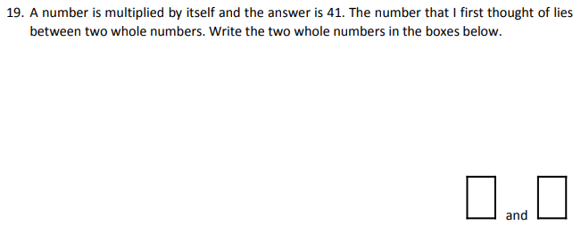 Numbers, Square numbers, Logical Problems