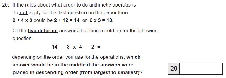 Numbers, Order and Compare Numbers, Algebra, BIDMAS