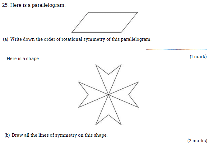 Line of symmetry and Rotational symmetry