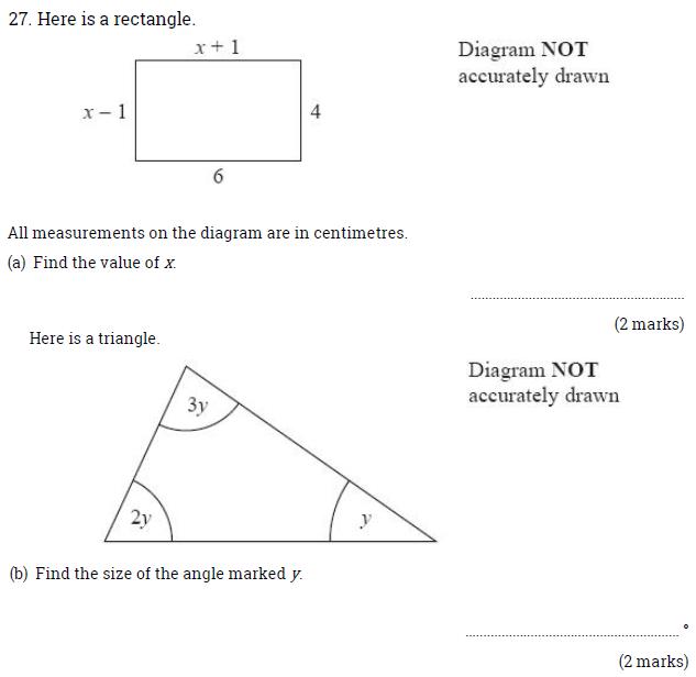 Rectangle, Triangle and Angle