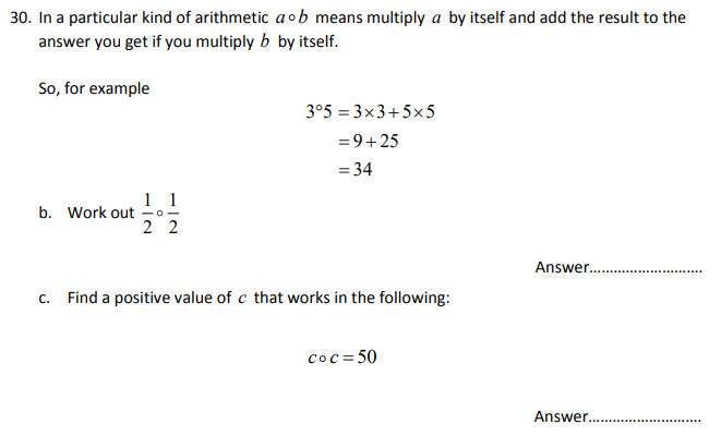 Numbers, Square Numbers, Algebra, Substitution
