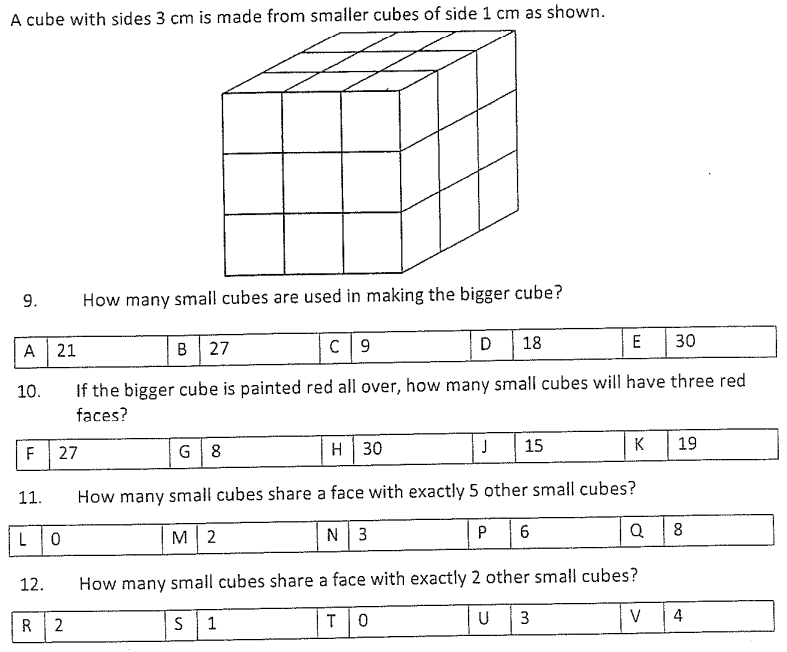 Cubes and Cuboids and Logical Problems