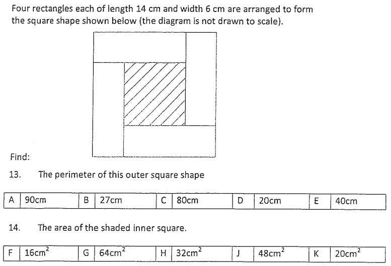 Rectangle, Squares ,Area and Perimeter and Compound Shapes
