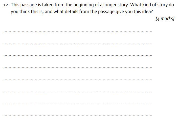 11 plus St Albans School 11 Plus English Paper 2014 Question 12