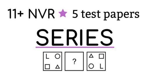 11 Plus Non verbal reasoning practice papers Series