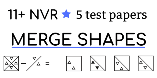 11+ nvr practice papers merge shapes