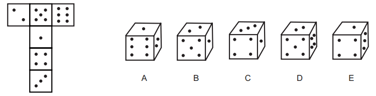 11+ Non-Verbal Reasoning Cubes, Nets and 3D shapes Practice Papers Example