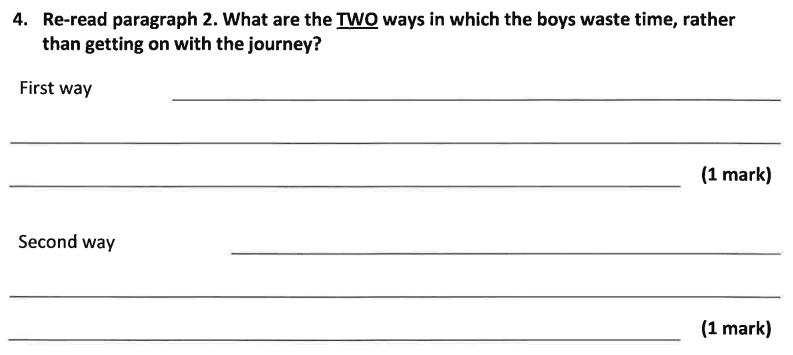 11 Plus Dulwich College English Specimen Paper – A Question 04