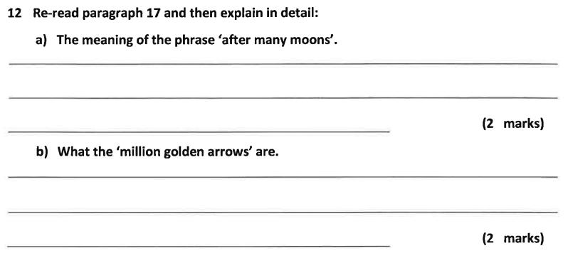 11 Plus Dulwich College English Specimen Paper – A Question 12