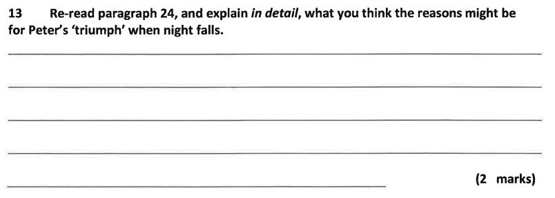 11 Plus Dulwich College English Specimen Paper – A Question 13