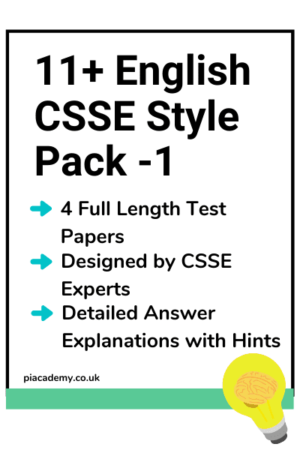 11 Plus CSSE English Papers Pack 1 with answers