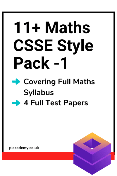 11 Plus CSSE Maths Papers Pack 1 with answers