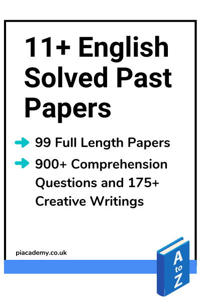 11 Plus English Solved Papers