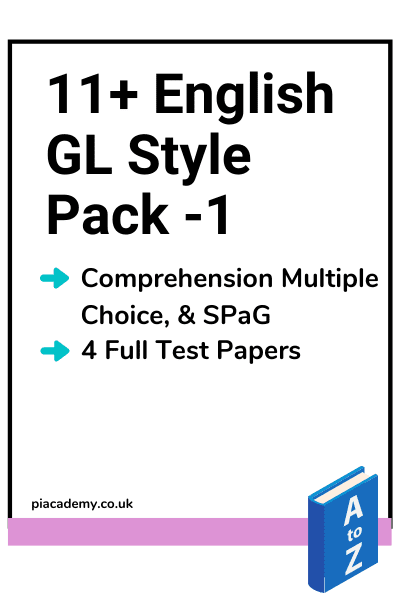 11 Plus GL English Papers Pack 1 with answers